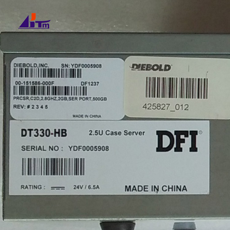 00-151586-000F 00151586000F Diebold Opteva PC Core TPM.PRCSR.C2D 2.8GHz.SER PORT 500GB